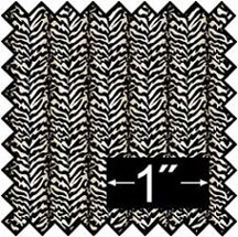 "1/2"" Zebra Silk Fabric"