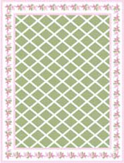 Mauve Petal Floorcloth