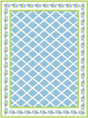 Blue Petal Floorcloth