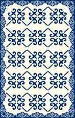 Midnight Victoria Floorcloth