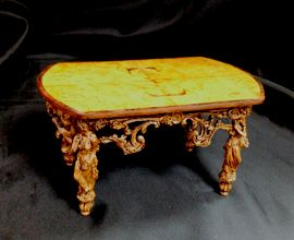Belter Table with Inlay Top