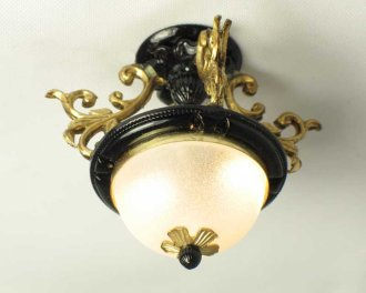 Black & Brass Ceiling Fixture LED