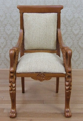 Swan Arm Chair, Antique Gold, NWN