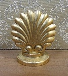 Shell Table Lamp, Gold Brass
