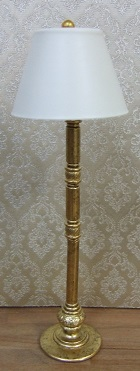 Modern Floor Lamp, Gold Brass