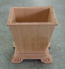 Waste Basket, Unfinished