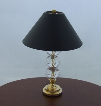 Lamp, 3 Crystal Globe