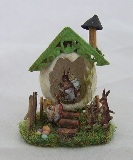 "1 144"" Easter Egg Scene, Handpainted"