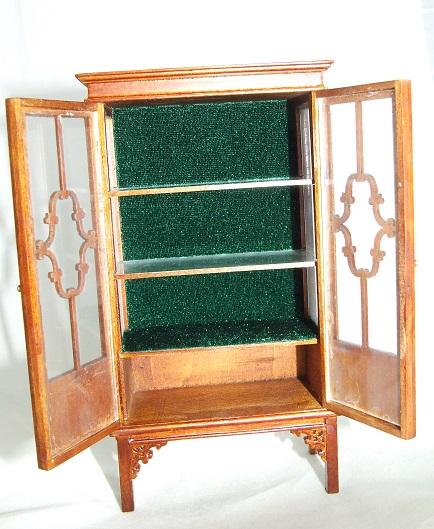 *SALE* Dollhouse Miniature Walnut Store or Shop Case or Cabinet