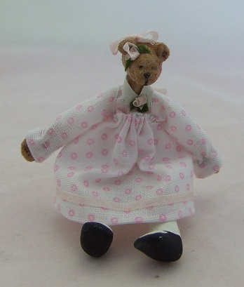 Bear Baby Doll, Pink Dress