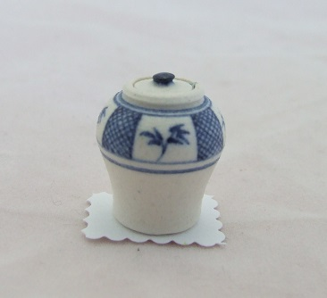 Blue & White Ginger Jar, Assorted - Click Image to Close