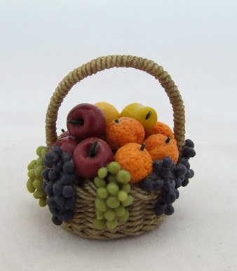 Wicker Basket Filled with Fruit