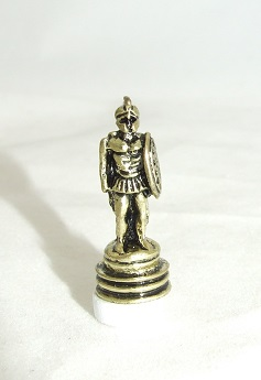 Greek Fighting Warrior, Gold Statue