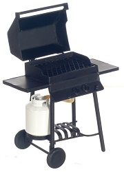 Barbeque Grill w/ Propane, Black