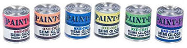 "1/2"" Gallon Assorted Paint Can and Labels"