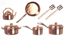 Copper Kitchenware, 10pcs