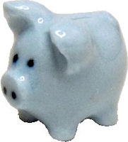 Blue Ceramic Piggybank