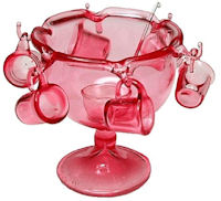 Pink Punch Bowl Set