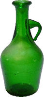 Green Glass Jug with Handles, Large