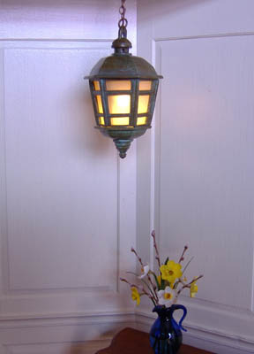 Hexagon Bronze Hanging Lantern