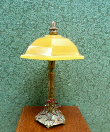 Domed Desk Lamp, Amber Shade