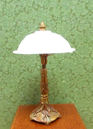 Domed Desk Lamp, White Shade