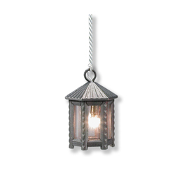 12v Pewter 6-Sided Lantern
