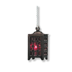 12V Pewter Filigree Lantern