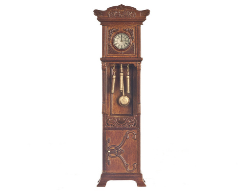 Grandfather Clock, New Walnut - Click Image to Close