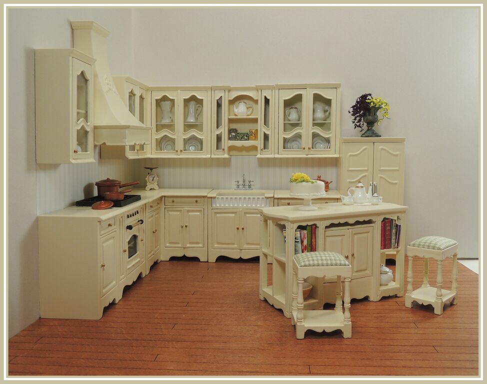 Miss paula 39 s kitchen set cream 14pcs bqpaulac 504 for Cream kitchen set