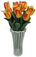 Dozen Yellow/Orange Tulips in Vase
