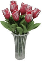 Dozen Pink Tulips in Vase