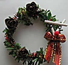 Christmas Wreath, Reindeer - Click Image to Close