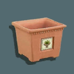 Square Planter w/ Decor Tile, 1 3/8""