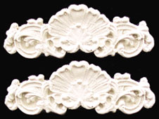 Shell Scroll Appliques, 2pc