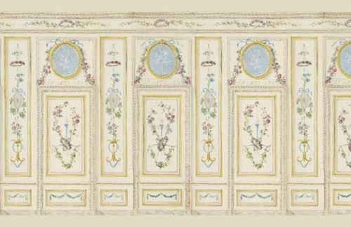 Miniature Dollhouse Wallpaper Wal6005 Art Panel Floral With