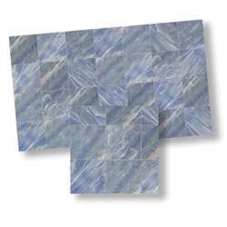 Faux Marble Tile, Blue