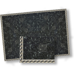 Black Faux Marble Floor Tile