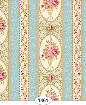 Parisian Floral Stripe Wallpaper Click To Enlarge
