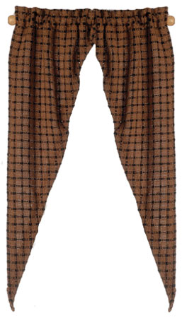 Country Tiffany Curtain, Chestnut