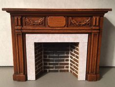 Adam Style Fireplace w/ Hearth & Embers, Walnut
