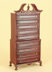 Jackson Regency Highboy, Mahogany