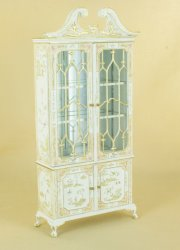 Sousong English Curio Cabinet, Handpainted