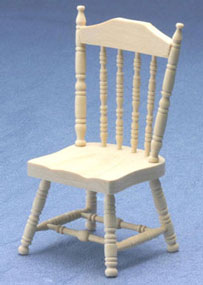 Spindle Side Chair, Unfinished