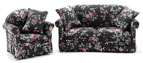 CLA10904 Dollhouse Miniature Sturdy Pink Sofa