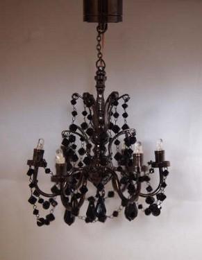 6 arm black crystal chandelier batteryled mdhc30 17899 6 arm black crystal chandelier batteryled aloadofball Choice Image
