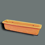 "1/2"" Clay Window Box, Empty"