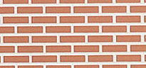 Brick Panel - Red Brick with White Mortar