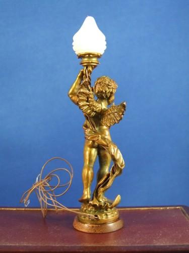 Cherub With Flame Globe Lamp Bronze Jpcfg 349 99