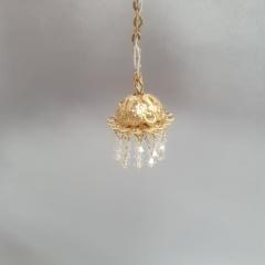 Hall Lamp, 1 Light w/ Crystals